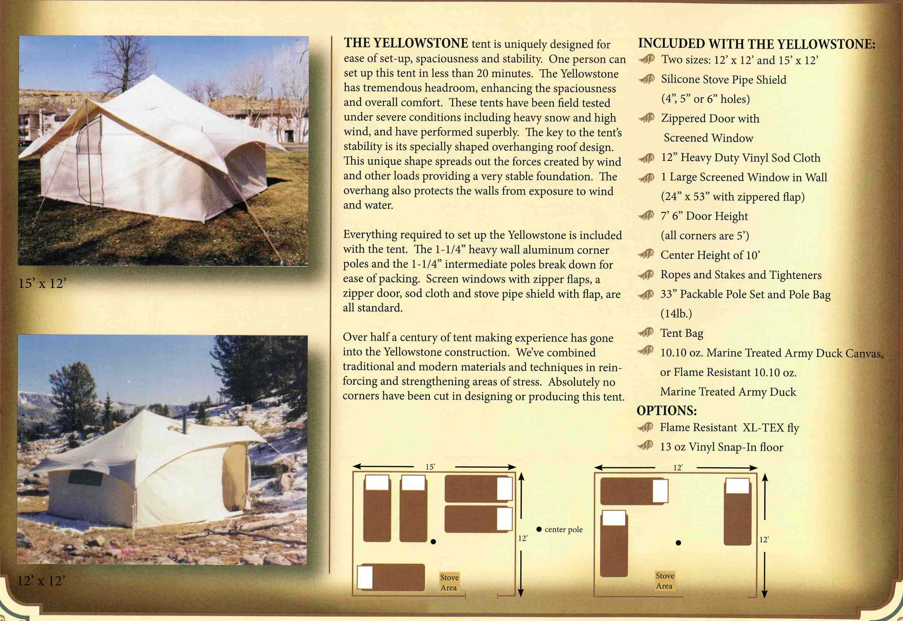 Spike tents for sale, The Yellowstone tent